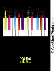 nøgler, piano, spektrum