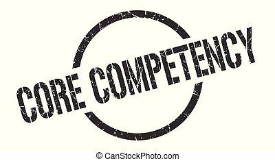 núcleo, competency, estampilla