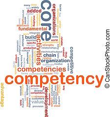 núcleo, palabra, nube, competency