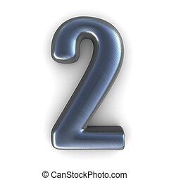 número 2, plata, -