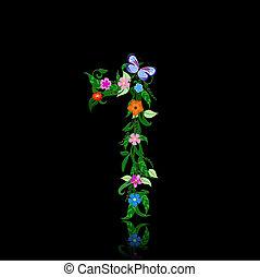 número, de, flores
