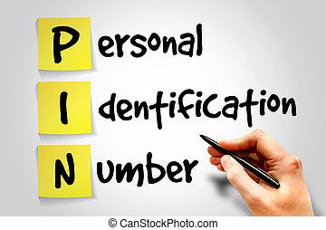 número de identificación personal