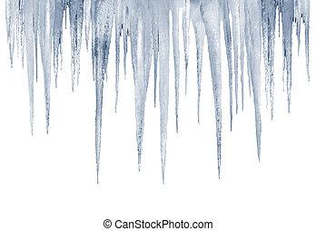 número, de, natural, icicles, ligado, um, fundo branco
