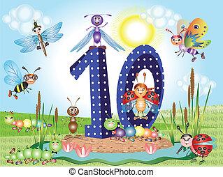 número, dez