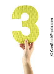 Número, três