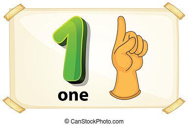 Número, um