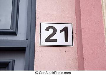 número, vinte um