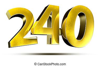 números, 240, 3d.