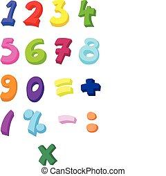números, coloridos
