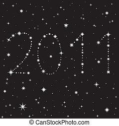 números, de, estrellas