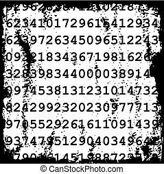 números, fundo