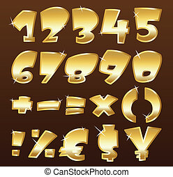 números, oro