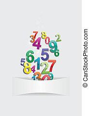 números, plano de fondo