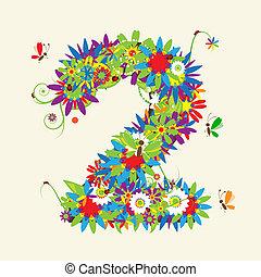 números, também, ver, números, floral, meu, galeria, design.
