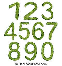 números, vetorial, natal, ilustração