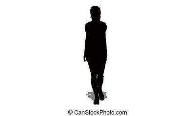 nő, árnykép