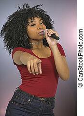 nő, énekes