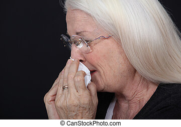 nő, öregedő, kiáltás