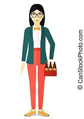 nő, beer., konzervál