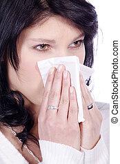 nő, beteg