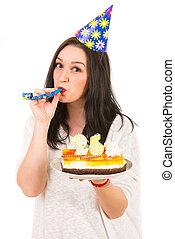 nő, boldog születésnapot