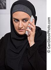 nő, fiatal, muzulmán