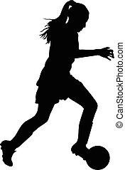 nő, futball játékos