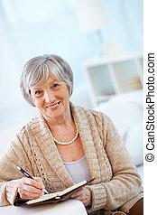 nő, idős
