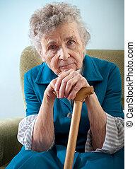 nő, idősebb ember