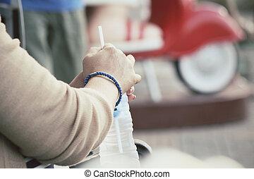 nő, ivóvíz