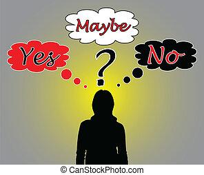 nő, kérdez, ügy