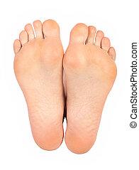 nő, lábak