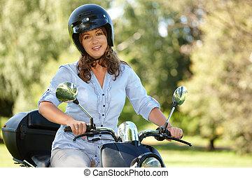nő, lovaglás