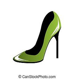 nő, művészet, cipők, váratlanul