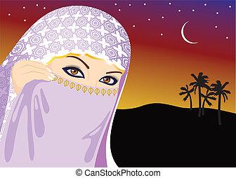 nő, muzulmán