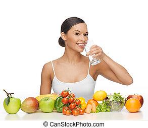 nő, noha, egészséges táplálék