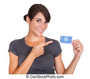 nő, noha, hitelkártya