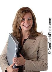 nő, noha, laptop