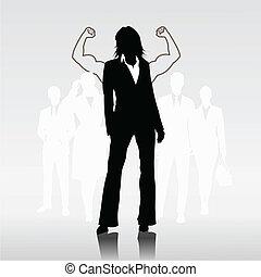 nő, sikeres, sportcsapat vezető