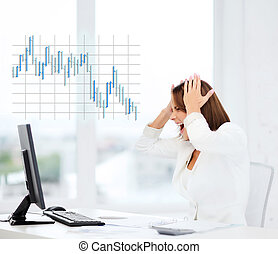 nő, számítógép, hansúlyos