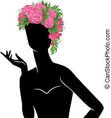 nő, szépség