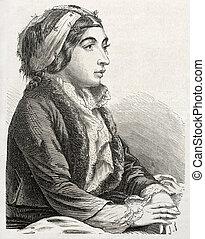 nő, török