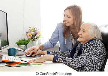 nő, tanár, öregedő