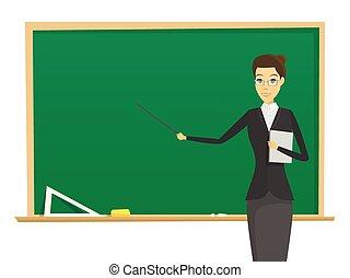 nő, tanár