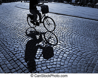 női, biciklista