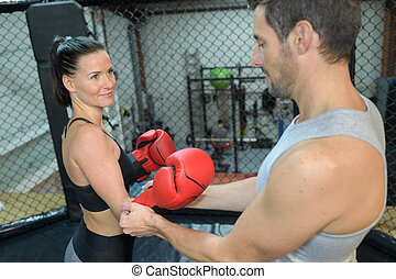 női, bokszoló, képzés