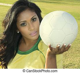 női, futball játékos, edző, birtok