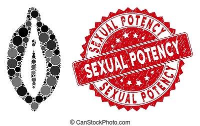 női, külső nemi szervek, kollázs, hatalom, lehangol, ikon,...