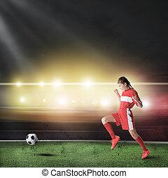 női, labdarúgó