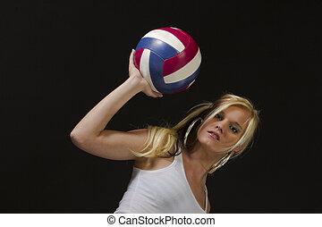 női, röplabda játékos